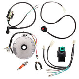 Motorcycle Universal Dirt Pit Bike CDI Spark Plug Switch Magneto Wire Harness Kit 50-125cc