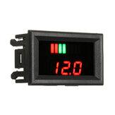 12-60V Fil rouge ACID Batterie Capacité Voltmètre Indicateur Niveau de charge plomb-acide LED Testeur