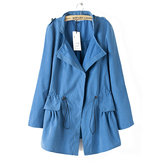 Women Causual Pure Color Jeanette Jackets Outerwear