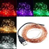 10M 100 LED USB Copper Wire LED String Fairy Light for Christmas Xmas Party Decor