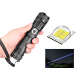 XANES® 1287 XHP50 LED 5 Modes USB Rechargeable Telescopic Zoom LED Flashlight 18650/26650