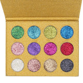 12 colori diamante Brillare Rainbow Eye Shadow MakeUp Cosmetic Pressed Palette