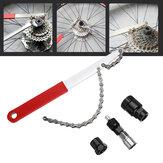 BIKIGHT Reparación de bicicletas reparadas herramienta 4 en 1 Eliminación de eje MTB herramienta Volante Llave Juego de bielas herramienta Kits