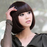 Women Short Hair Wigs Bob Style Neat Bang 5 Colors