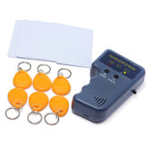 125KHz RFID copiadora tarjeta de identificación EM4100 con 6 etiquetas de escritura y 6 tarjetas