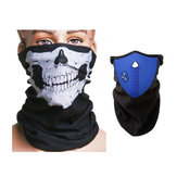 Motorcycle Face Neck Ski Warm Mask Blue and Skull Face Mask Scarf