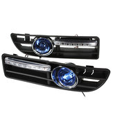 2x Fog Lamp 4LED for VW Golf Jetta Bora Mk4 99-04 Grille Blue Harness