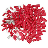 100pcs Male&Female Insulated Spade Quick Wire Crimp Connector Terminal