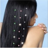 Strass extension de cheveux de diamant cristaux gemmes