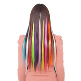 5pc Pure Color Fashion Straight Hair Tablets Hair Extension Piece