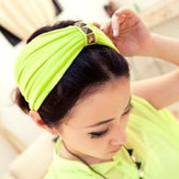 Wide Square Rivet Knot Hair Band