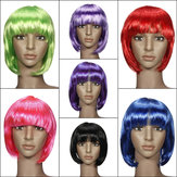 Ladies Cosplay BOB Style Short Straight Hair Wigs