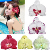 Hawaii Orchid Flower Fabric Hair Clip Accessories