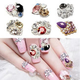 3D Glitter Purple White Black Metallic Rhinestones Nail Art Stickers