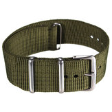 Mens Military Army Black Green Nylon Sport Wrist Watch Band