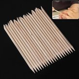 20Pcs Wood Nail Art Sticks Cuticle Pusher Remover Manicure Tools