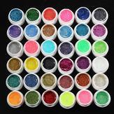 36 Pentole Brillare Polvere UV Builder Gel Chiodo Set di decorazioni artistiche