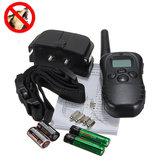 Perro Collar de entrenamiento para dejar de ladrar LCD Pantalla Control remoto 100 niveles