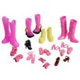 High Heel Boot Ankle Strap Shoes Accessories For Barbie Doll