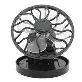 Mini portátil Solar Ventilador de clip accionado y ventilador de enfriamiento Ahorro de energía