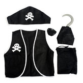 Halloween Party Pirate 5 in 1 Suit Costumes For Children & Adult