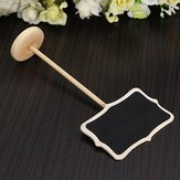 Mini Blackboard Chalkboard on Stick Stand Message Board Place Holder