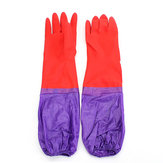 A Pair Wash Cleaning Long Sleeves Rubber Latex Cashmere Gloves Kitchen Household Wash Dishes Sleeves