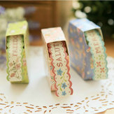 Floral Lace Decorative Paper Tape Sticker Colored Decorating Tape