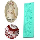 Lace Macaron Silicone Mold Fondant cake Baking Mat Sugarcraft