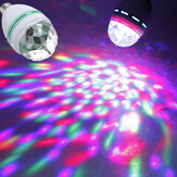 E27 3W Colorful Rotating RGB Spotlightt Bulb For Party Disco Stage Christmas Halloween