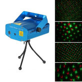 Mini R&G Laser Light Lighting Projector Portable DJ Disco Stage Light for Christmas