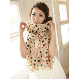 Spring & Autumn Double Color Aesthetic Love Hearts Chiffon Scarves