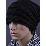 Zanzea Couple Threaded Twist Pattern Knitted Wool Hat