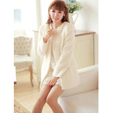 Autumn & Winter White Long Sleeve Pearl Fireworks Velvet Coats