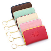 Women Short Card Holders Zipper Coin Purse Key Wallet Cards Case