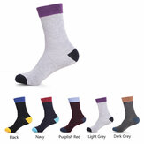 A.E.SHON Men's Cotton Socks Bussiness Soft Contrast Socks
