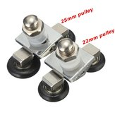 1pcs Shower Room Glass Sliding Door Pulley Roller Runner Double Wheel