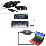 MIDI USB Cable Converter PC to Music Keyboard Adapter
