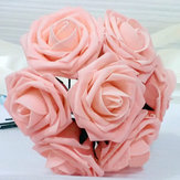 Artificial Christmas Ornament Roses Bouquet Decorative Pe Flowers
