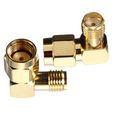 DANIU RP-SMA Male To SMA Female Jack Right Angle Crimp RF Adapter Connector