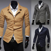 Men's Spring New Single Breasted Casual Knitted Suits