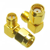 RP-SMA Male to RP-SMA Female Adapter Right Angle RF Connector For FPV RC Drone