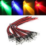 10pcs LED filaire 5mm 12V DC ampoule de la lampe 20cm pré lumière colorée