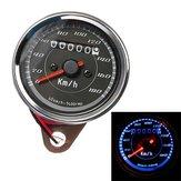 Motorcycle Odometer Speedometer Gauge Meter Dual Color LED Backlight