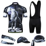 Men's 3D Cycling Clothing Bib Shorts Sleeve Jersey Bike Cloth Wear