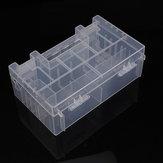 Caja de plástico duro transparente de almacenamiento de soporte de caja de la batería del AA AAA c