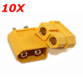 10X XT60 Male Female Bullet Connectors Plugs For RC Battery