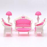 Pink Dollhouse Furniture Living Room Parlour Sofa Set