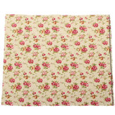Cotton Rose Printed Fabric Handicraft DIY Sewing Cloth