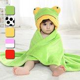 Animal lindo bebé de dibujos animados bebé envolver parisarc franela suave edredón manta albornoz